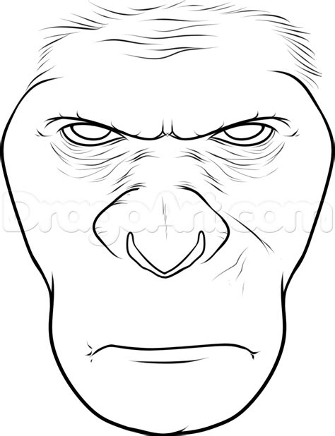 how to draw caesar from rise of the planet of the apes