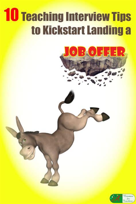 Resume Job Grouping by 10 Teaching Interview Tips To Kickstart Landing A Job Offer