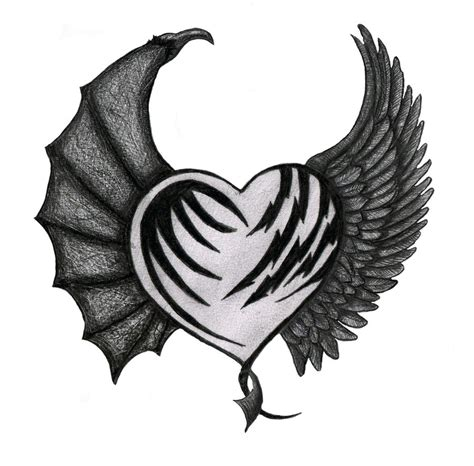 devil heart tattoo designs collection of 25 with flames design
