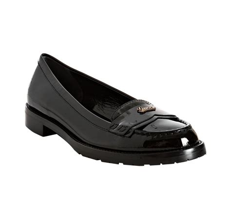 gucci rubber loafers gucci black patent script logo rubber lug loafers in black