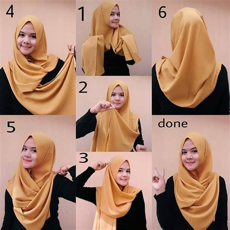 tutorial hijab gaya simple folded chest coverage hijab tutorial easy tutorials and