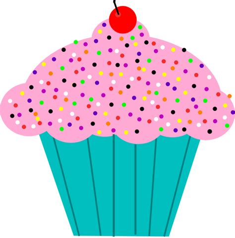 cupcake clipart pink frosted cupcake clip at clker vector clip