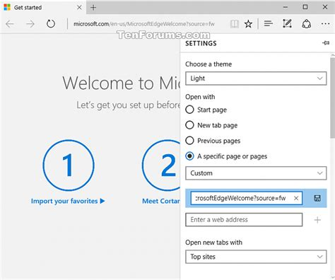 windows 10 edge browser tutorial turn on or off microsoft edge welcome page in windows 10