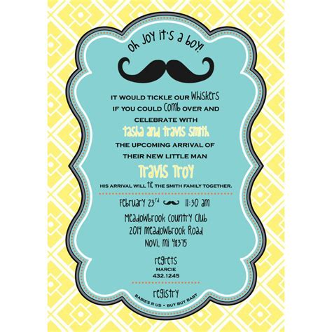 Baby Shower Printed Baby Shower Invitations Card Invitation Templates Card Invitation Baby Shower Invitation Template