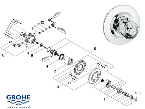 Grohe Shower Installation Manual by Grohe Avensys Classic Dual Concealed 34032 Ip0 Shower