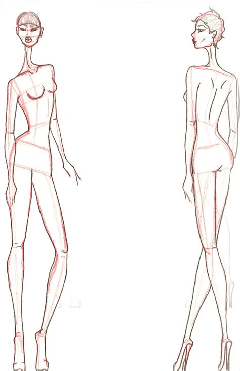 fashion illustration front and back croqui front and back www pixshark images