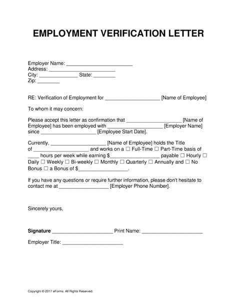 Employment Verification Letter Dcf employment verification form experience capture letter