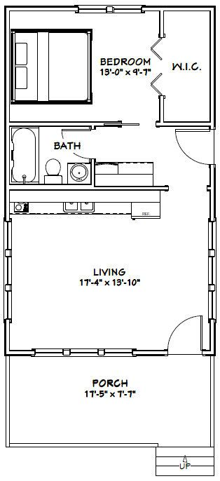 excellent floor plans 18x30 house 18x30h5c 540 sq ft excellent floor plans