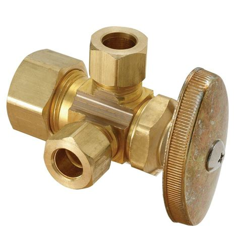 Plumbing Flow Valve by Brasscraft 1 2 In Nominal Compression Inlet X 3 8 In O D