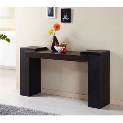 contemporary sofa table modern black console table ebay