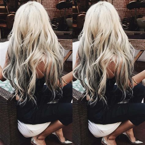 hair with color underneath platinum hair with underneath lowlights