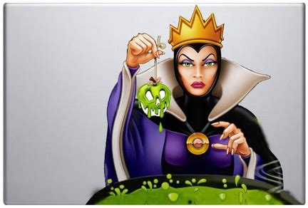 apple queen evil queen with poison apple macbook decal love love