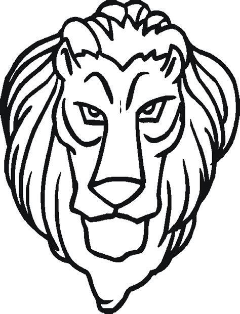 coloring page of lion head free lion head coloring pages