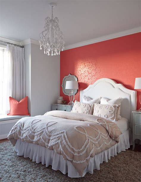 gray and coral bedroom ideas serene coral combinations mint grey cream