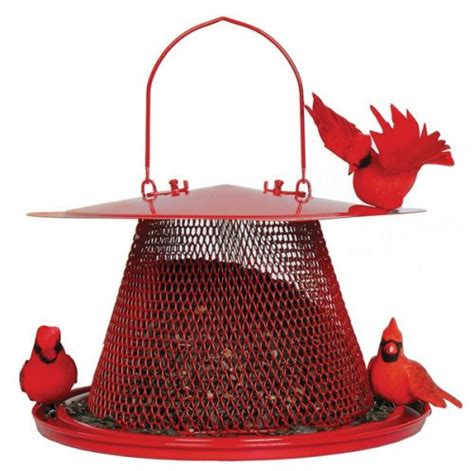 no no red cardinal bird feeder c00322 new ebay