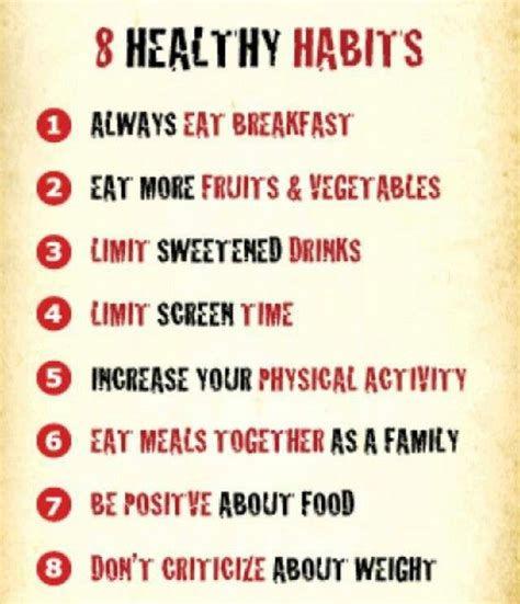 Healthy Habits For A Healthy Pin By Jean On Healthy Living
