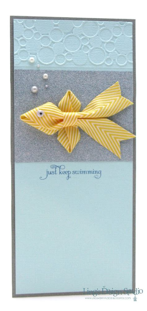 Handmade Cards With Ribbon - 25 best ideas about swim ribbons on