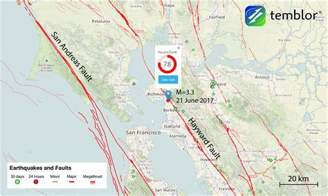 hayward fault map m 3 0 earthquake strikes near berkeley felt in oakland and san francisco temblor net