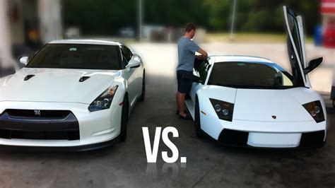 Vs Lamborghini Race Lamborghini Murcielago Vs Nissan Gt R Race