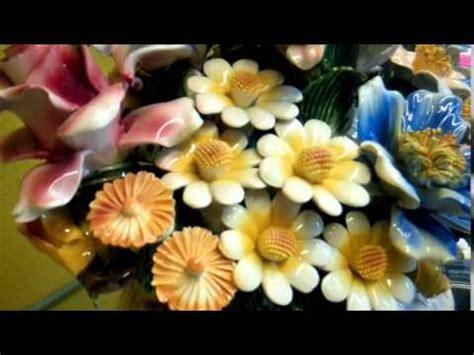 fiori di ceramica cesto ceramica fiori