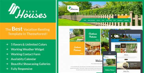 Houses Vacation Rentals Html Template By Themeplayers Themeforest Best Vacation Rental Website Templates