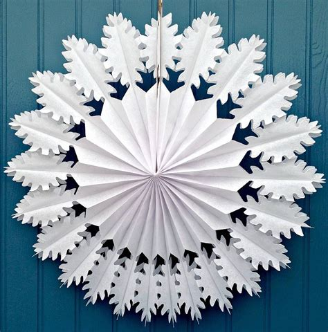 Paper Snowflake - snowflake paper decoration oak design by boase ltd