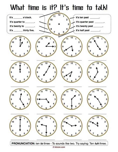Tell Time Worksheets by Worksheet Quot Telling Time Quot On Telling Time
