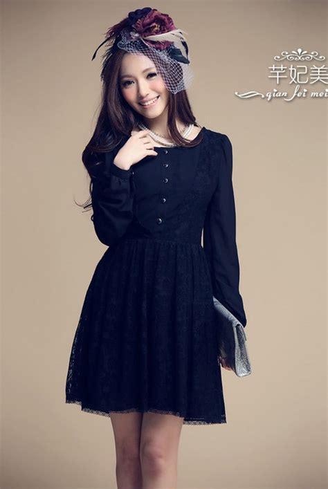 Dress Korea Black Import Ds3529 black lace dress2 import kode cs qt55052black zahira