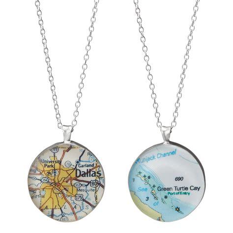custom map pendant custom map pendant necklace womens