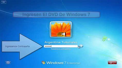 recuperar contrase 241 as de windows 7 8 descargar gratis entrar a windows 7 sin contrase 241 a viyoutube