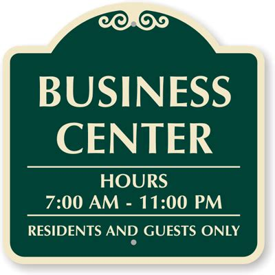 business closed sign template business hours signs