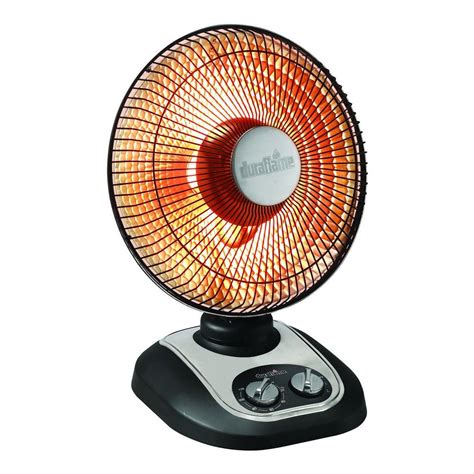 kenmore oscillating compact fan heater duraflame 13 in 800 watt parabolic oscillating portable