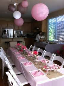 Decorating Ideas For Baby Shower Gift Table Juna S Baby Shower Table Setting Theme Pink White
