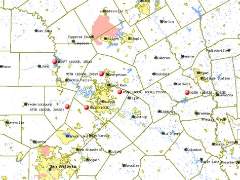 central texas county map map of central texas swimnova