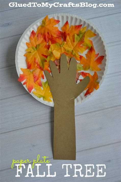 Fall Paper Plate Crafts - paper plate fall tree kid craft fall trees craft and