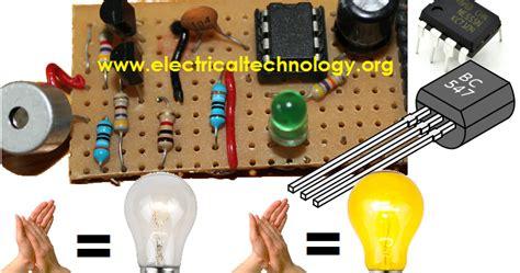 Bohlam Saklar Sensor Tepuk rangkaian saklar lu led listrik dengan tepukan tangan kumpulan ilmu teknologi