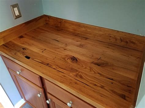 our reclaimed wood kitchen countertops make a bold statement