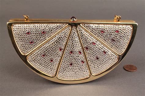 Judith Leiber Coin Purse Miniaudiere by Lot 256 Judith Leiber Watermelon Minaudiere Purse