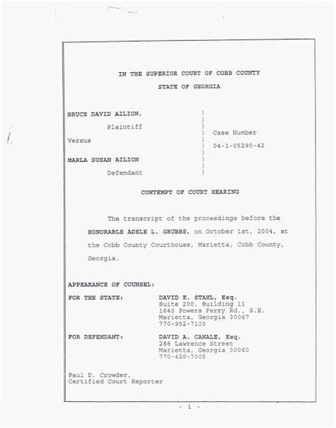 Divorce Contempt Letter cobb county divorce the three sided story collusion