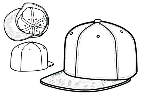 Ball Cap Coloring Page Coloring Pages Baseball Cap Coloring Page