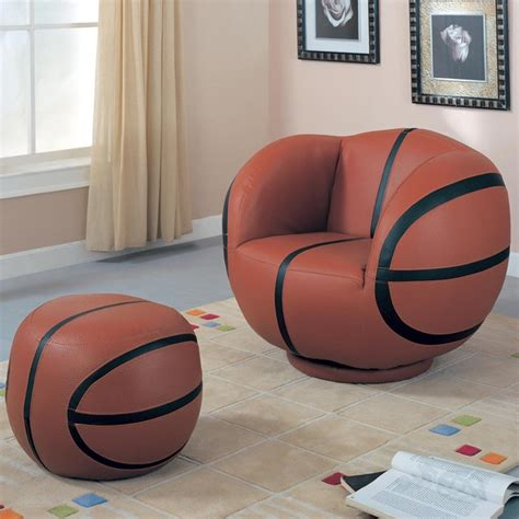 basketball chair and ottoman kids sports chairs large kids basketball chair and ottoman