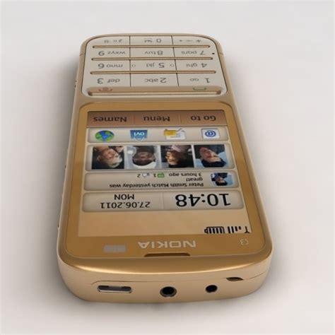 Hp Nokia C3 01 Gold Edition nokia c3 01 gold edition 3d model