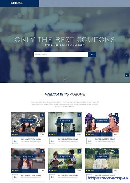 templates for deals website 10 best coupon website template 2018 frip in