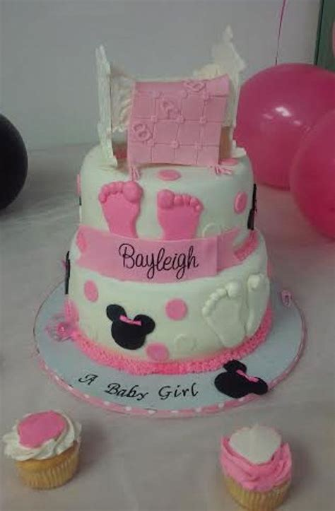 minnie mouse baby crib 2 tier minnie mouse w baby crib and blanket baby shower