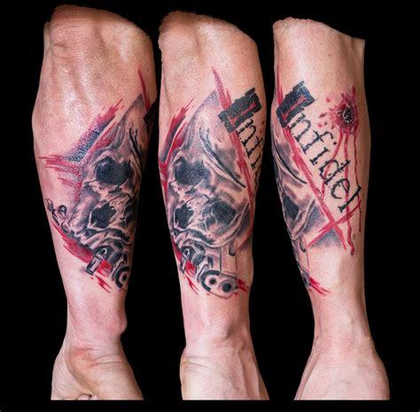 infidel tattoo infidel tattoos trash polka