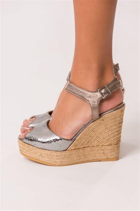 Sandal Wedges Mr93 Putih 43 metallic high wedge and platform sandals handmade by gaimo summer 2015 collection