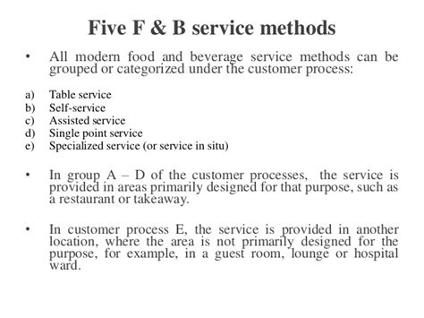 table service definition hospitality food beverage service