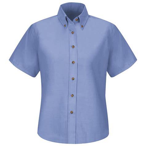 light blue dress shirt womens red kap sp81 women s poplin dress shirt short sleeve