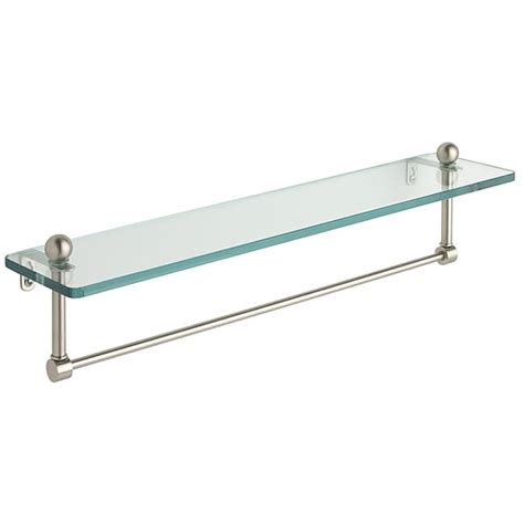 Glass Bathroom Shelves With Towel Bar 22 Inch Glass Bathroom Shelf With Towel Bar 11235783 Overstock Shopping Big Discounts