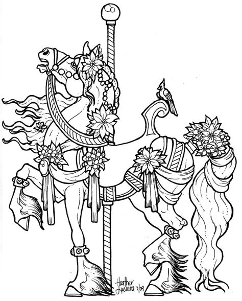 free coloring pages of carousel horses free carousel horses coloring pages